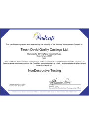 NonDestructive Testing audit 168851 Certificate